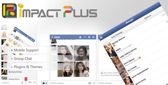 CodeCanyon Impact Plus Facebook Style Chat 7826181