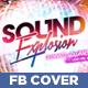 Sound Explosion Facebook Timeline Cover - GraphicRiver Item for Sale