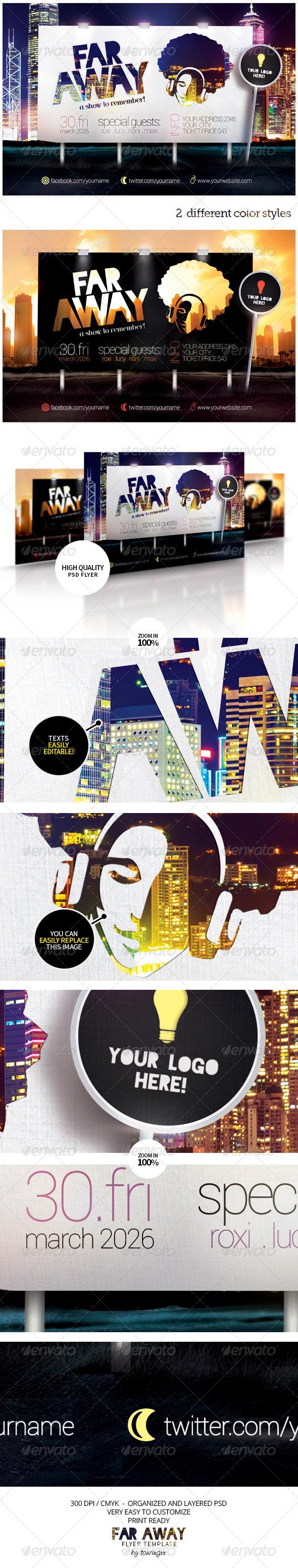 Far Away Flyer Template - Flyers Print Templates