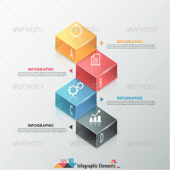 GraphicRiver Modern Infographic Options Banner With Blocks 7865133