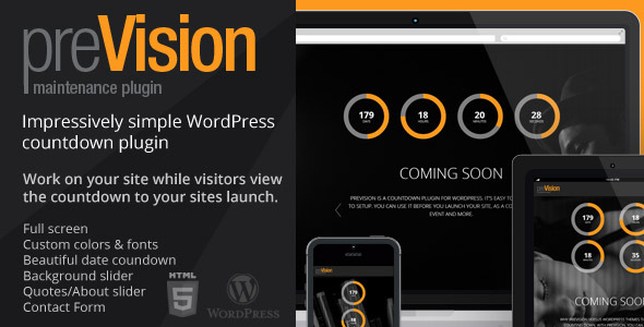 preVision Responsive WordPress Maintenance Plugin