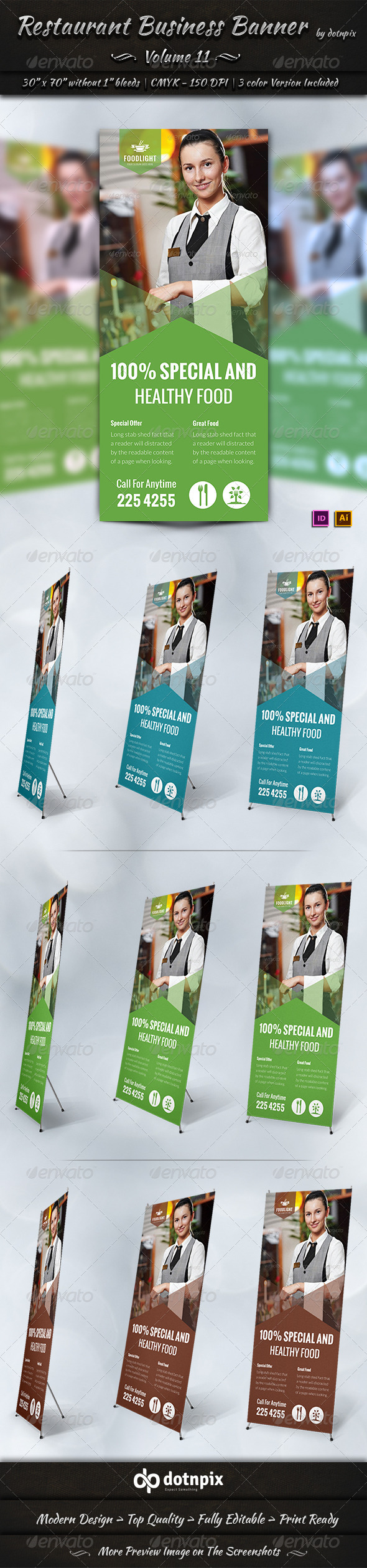 GraphicRiver Restaurant Business Banner Volume 11 7865178