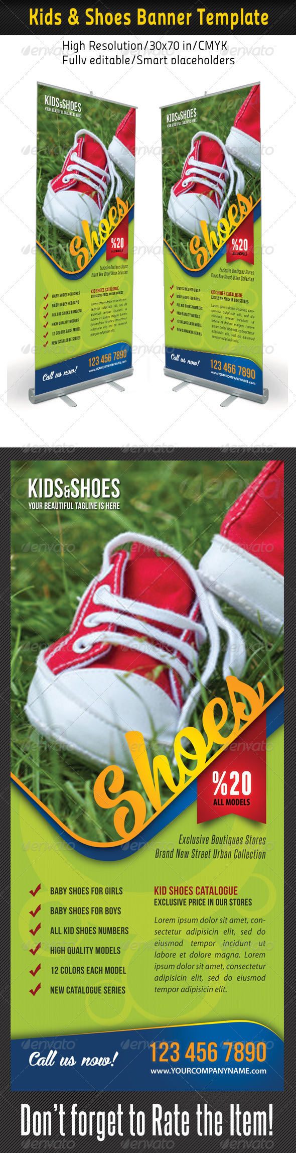 GraphicRiver Kid And Shoes Banner Template 03 7865342