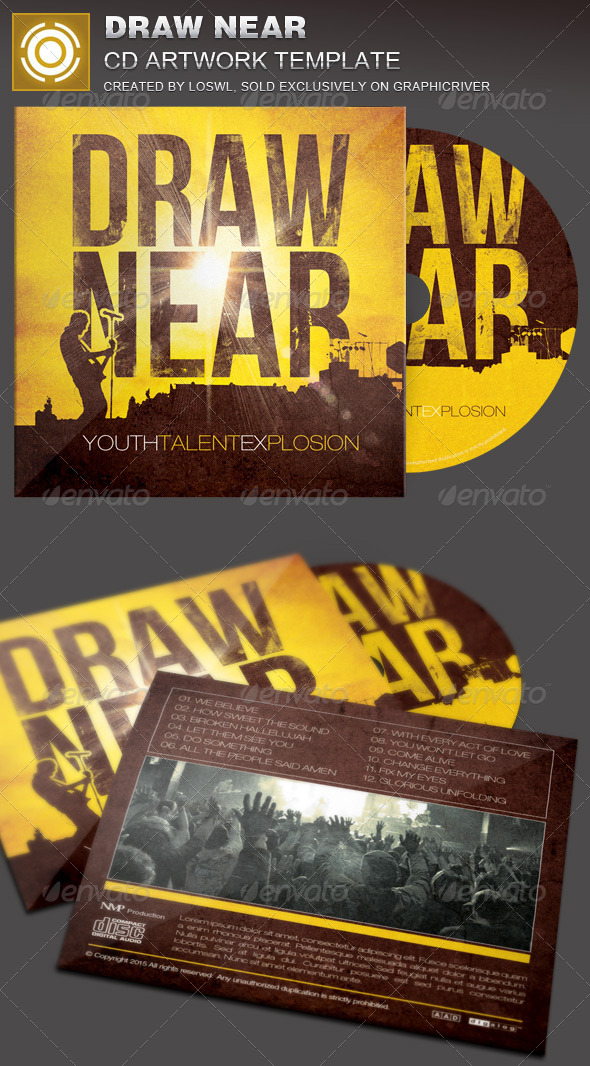 GraphicRiver Draw Near CD Artwork Template 7865388