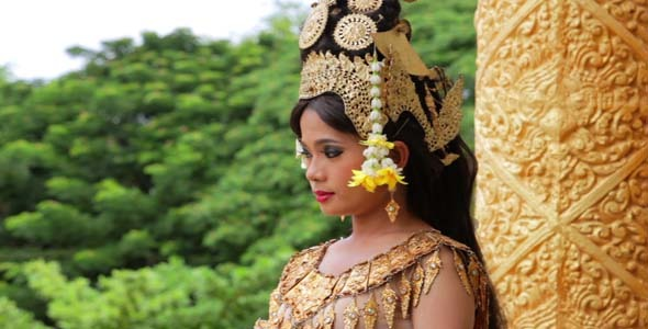 Apsara Dancer Seductive Beautiful In Asian Mythology