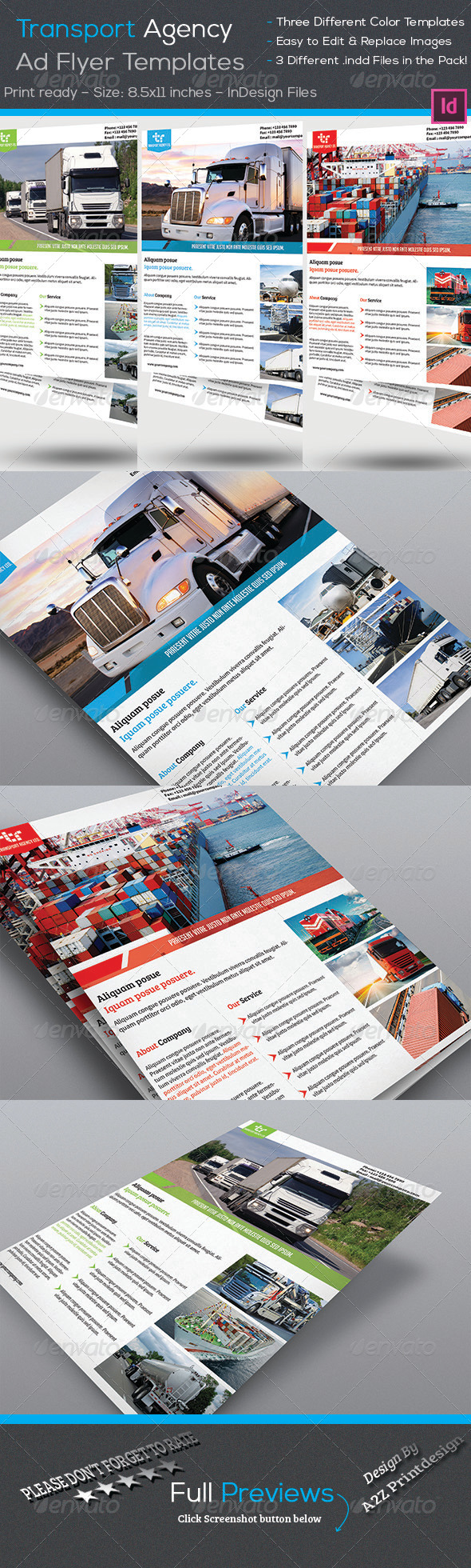 GraphicRiver Transport Agency Corporate Flyer 7865525