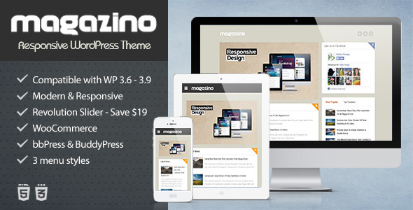 Magazino - Responsive WordPress Theme - Blog / Magazine WordPress