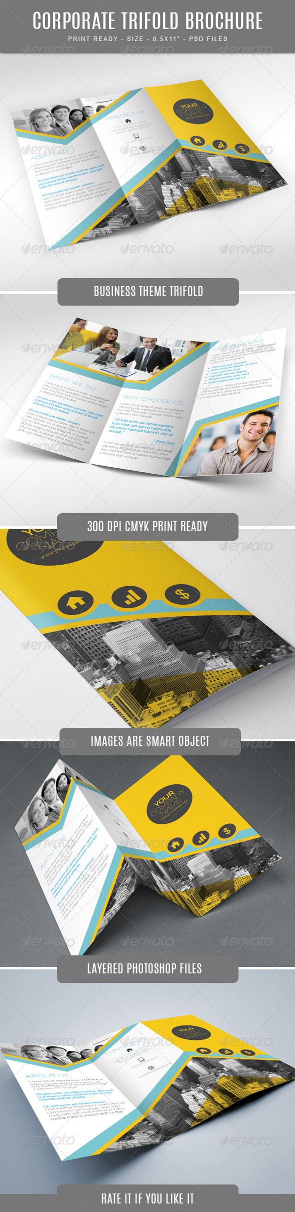 GraphicRiver Creative Corporate Tri-Fold Brochure 7865572