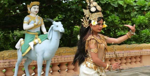 Apsara Dancer Beautiful Female In Asian Mythology