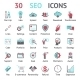 30 SEO Icons - GraphicRiver Item for Sale
