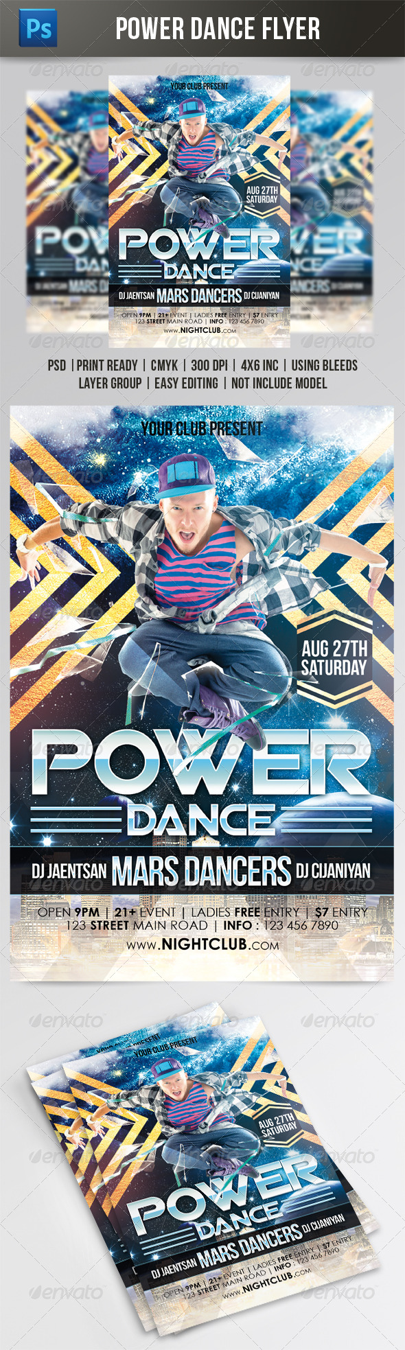 GraphicRiver Power Dance Flyer 7865946