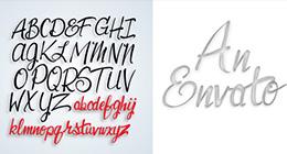 Lettering, Hand Drawn Alphabet English, Script