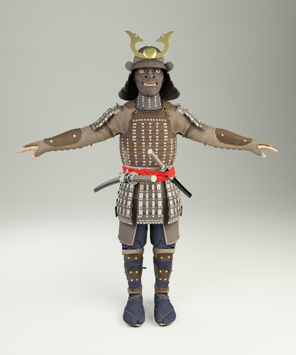 Samurai 3d model - 3DOcean Item for Sale