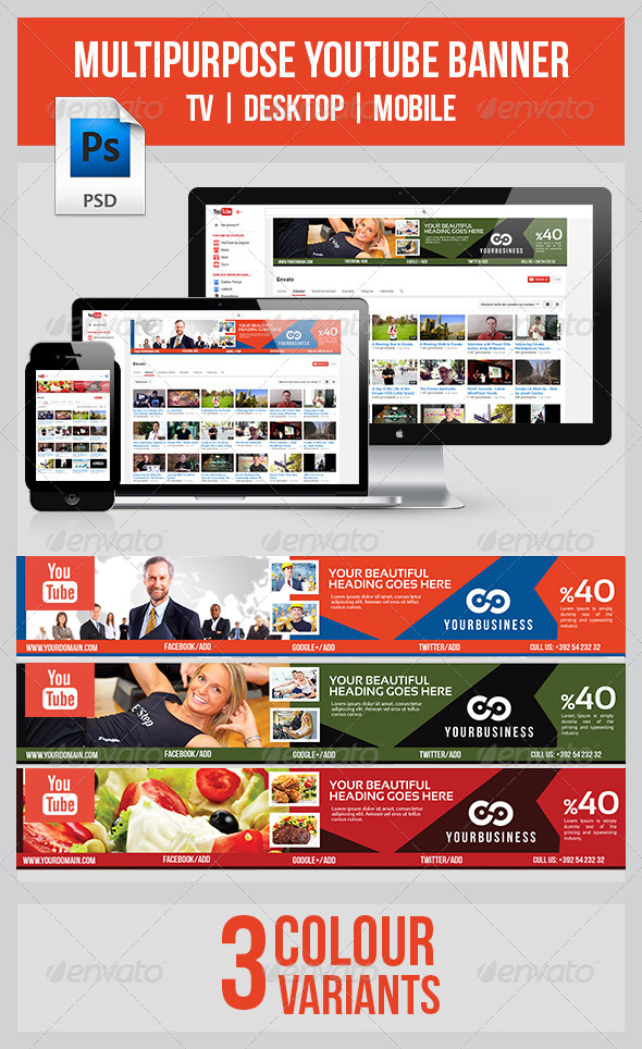 GraphicRiver Youtube Banner 7849952