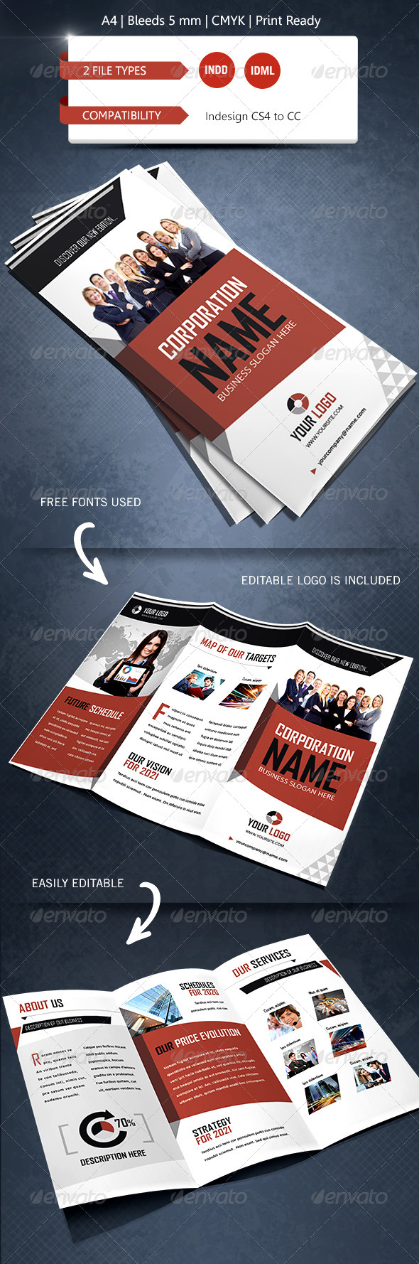 Creative & Corporate Trifold Brochure Template