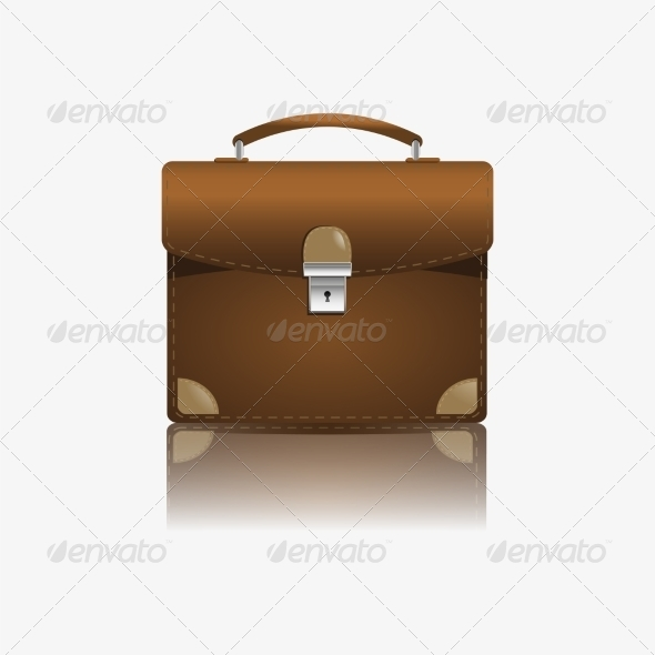 Brown Briefcase Illustration