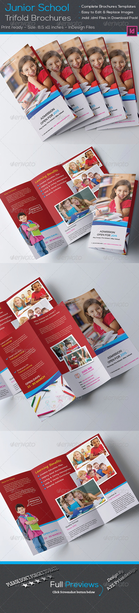 GraphicRiver Junior School Trifold Brochures 7867800