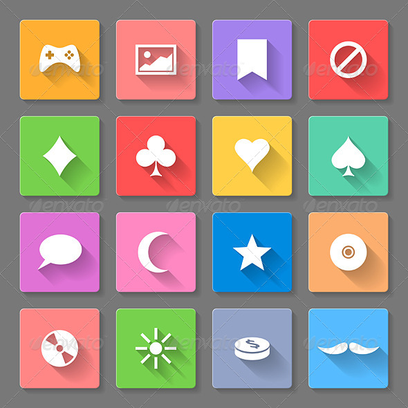 GraphicRiver Set of Flat Icons 7867989