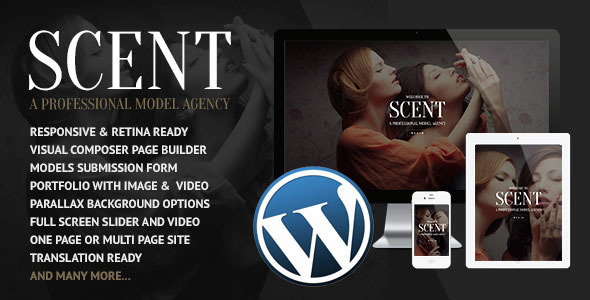 Download Scent - Model Agency WordPress Theme nulled download