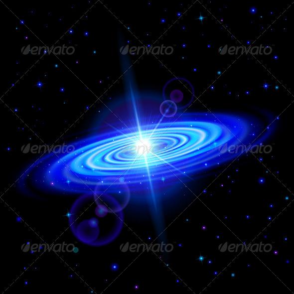 GraphicRiver Blue Galaxy 7868203