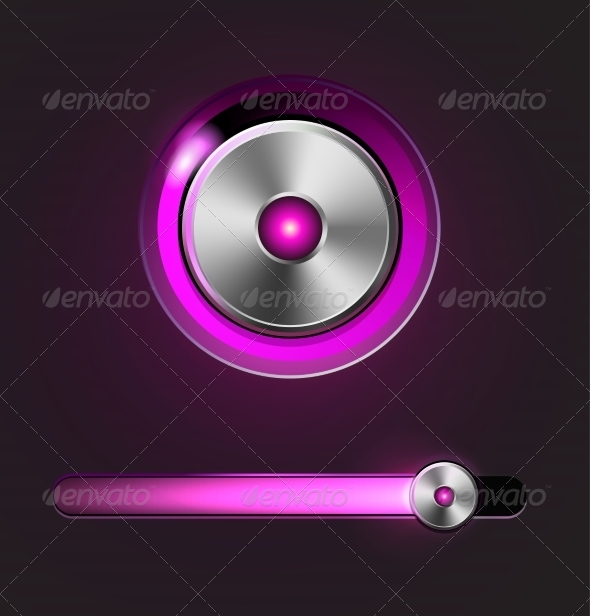 GraphicRiver Glossy Media Player Button and Track Bar 7868216