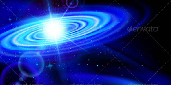 GraphicRiver Blue Galaxy 7868477