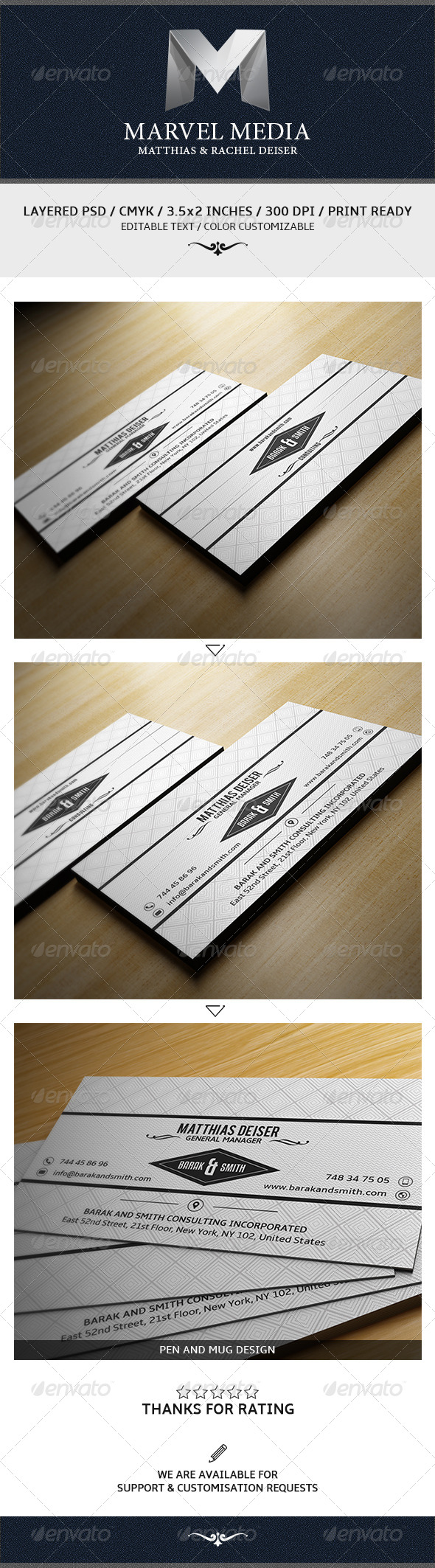 GraphicRiver White Business Card 7868501