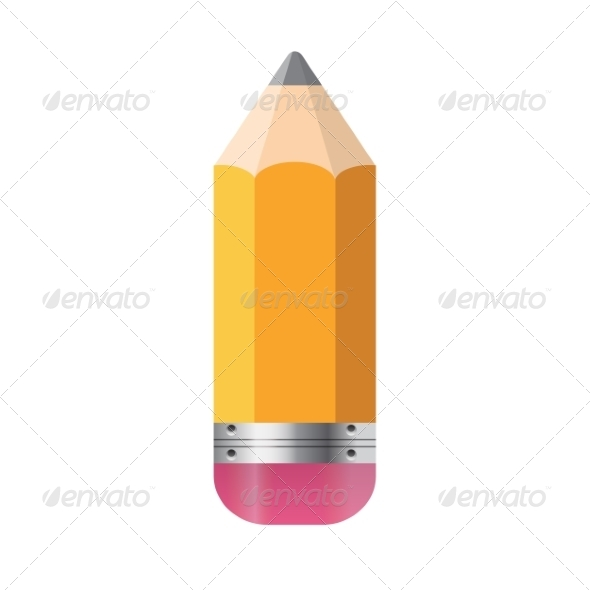 GraphicRiver Pencil Isolated on White Background 7868580