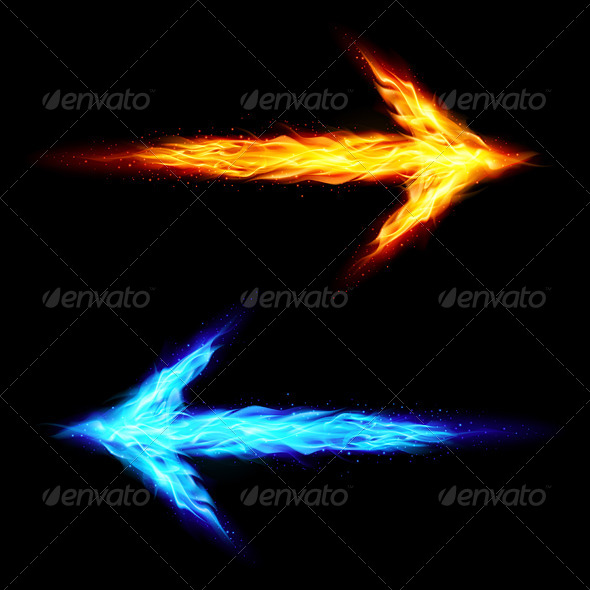 GraphicRiver Two Fire Arrows 7868630