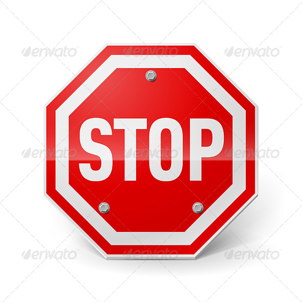 GraphicRiver Stop Sign 7868664