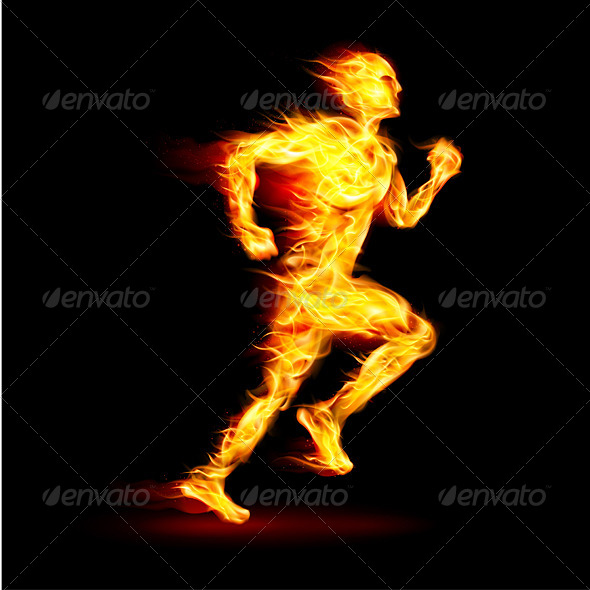 Fiery Running Man