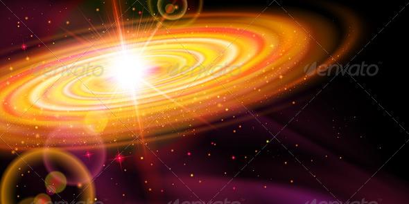 GraphicRiver Orange Galaxy 7869205