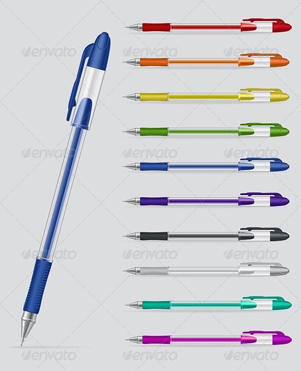 GraphicRiver Set of Gel Pens 7869206