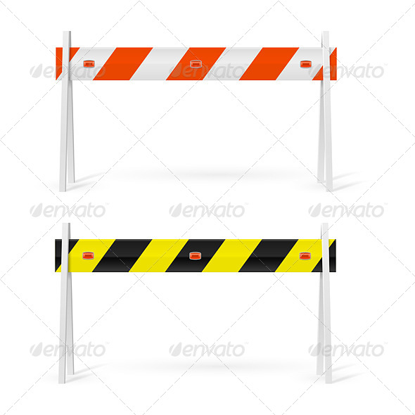 GraphicRiver Road Barrier 7869208