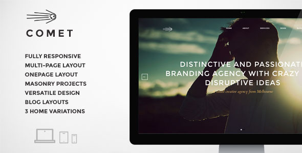 ThemeForest Comet Responsive and Elegant Template 7836731