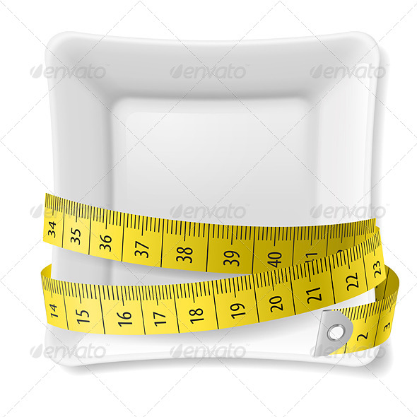 GraphicRiver Plate and Tape Measure 7869255