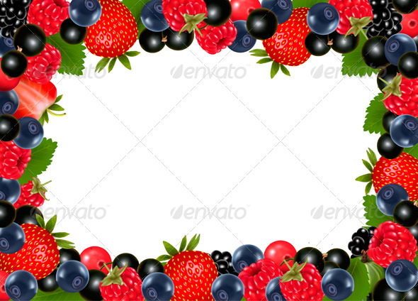 GraphicRiver Background with Berries and Cherries 7869261