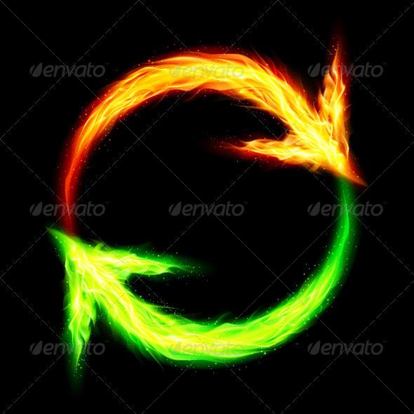 GraphicRiver Fire circular arrows 7869317