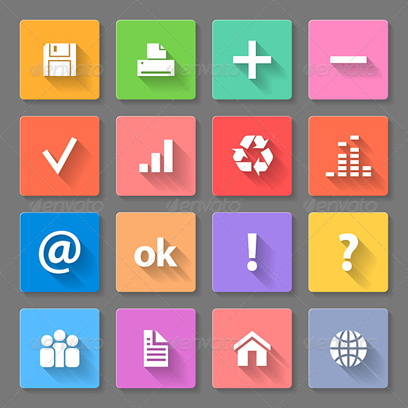 GraphicRiver Set of Flat Icons 7869322