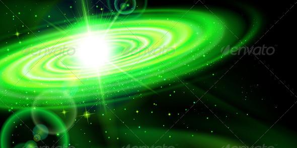 GraphicRiver Green Galaxy 7869334