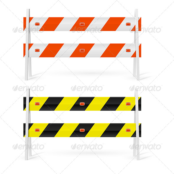GraphicRiver Road Barriers 7869343