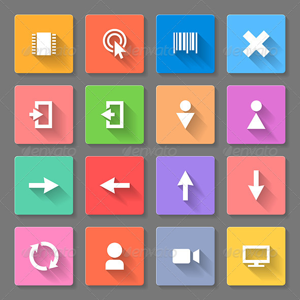 GraphicRiver Set of Flat Icons 7869437