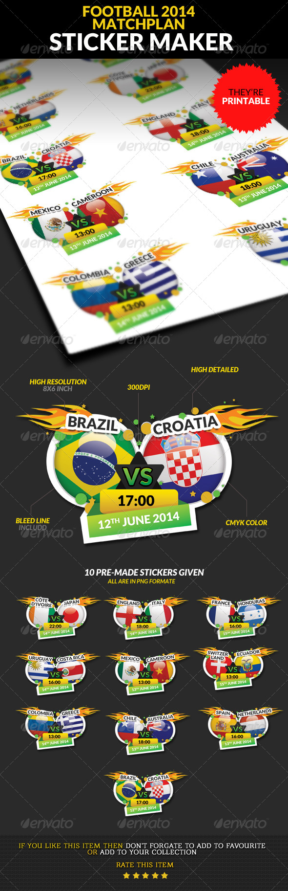 GraphicRiver Football Championship 2014 Matchplan Sticker Maker 7847387