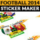 Football Championship 2014 Matchplan Sticker Maker