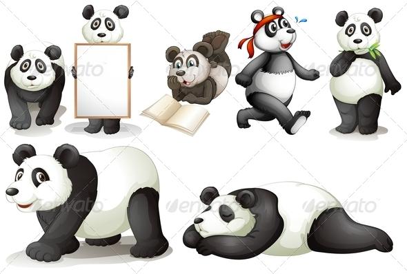 GraphicRiver Seven Pandas 7869669