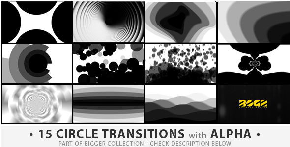 15 Circles Transitions Pack