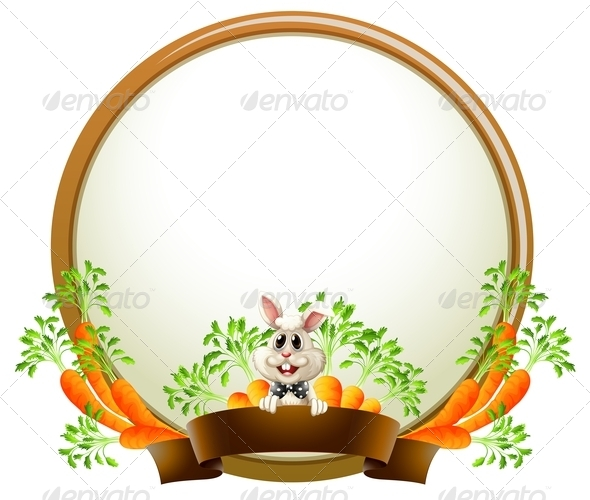 GraphicRiver Round empty template with rabbit 7869763