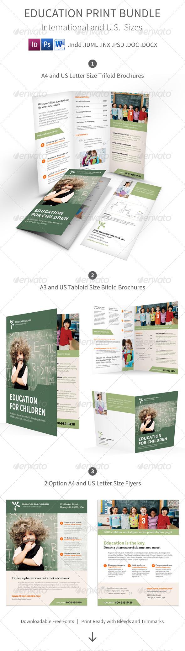 GraphicRiver Education Print Bundle 7869774
