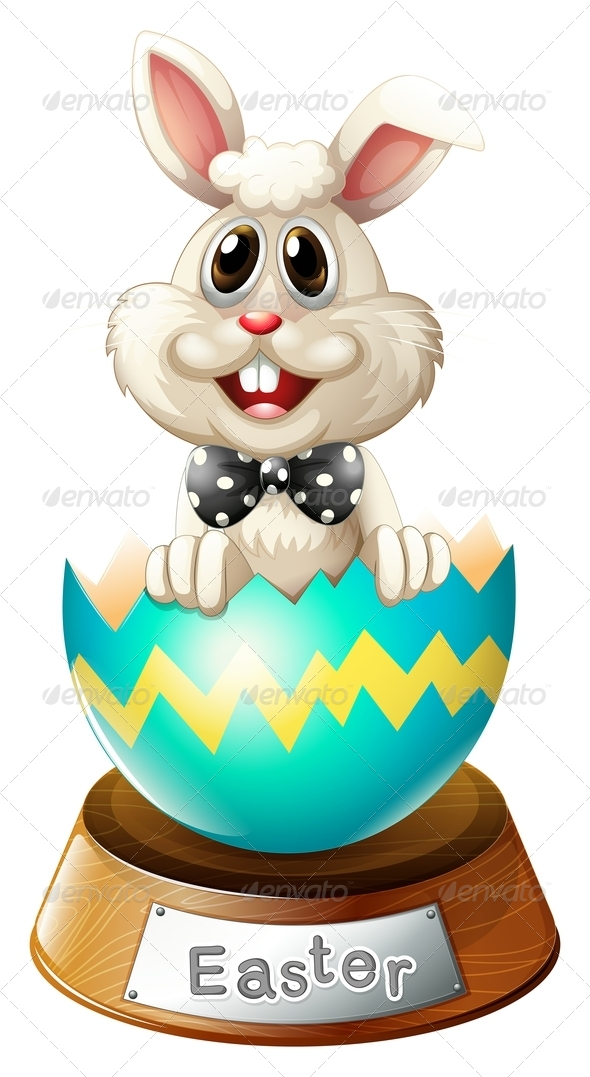 GraphicRiver Cracked egg with bunny 7869779