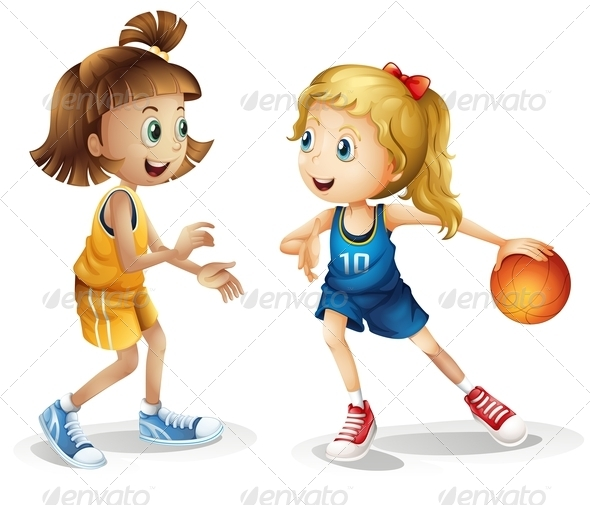 GraphicRiver Female basketball players 7869783